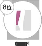 8位 ひじ下