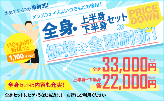 名古屋でメンズ脱毛といえばフェイス。リピーター率90%以上